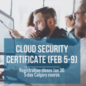 Cloud Security Specialist Course - Calgary - 5 day course